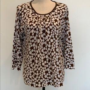 Cathy Daniels Polka Dot 3/4 Sleeve Sweater